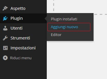 aggiungi nuovo plugin - ecommerce WordPress woocommerce