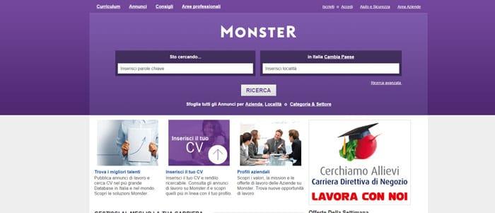 monster offerte lavoro