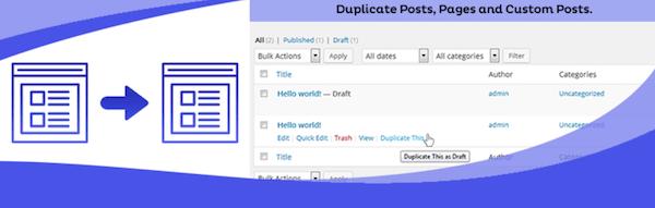 Duplicate Page Plugin duplicare articoli e pagine WordPress