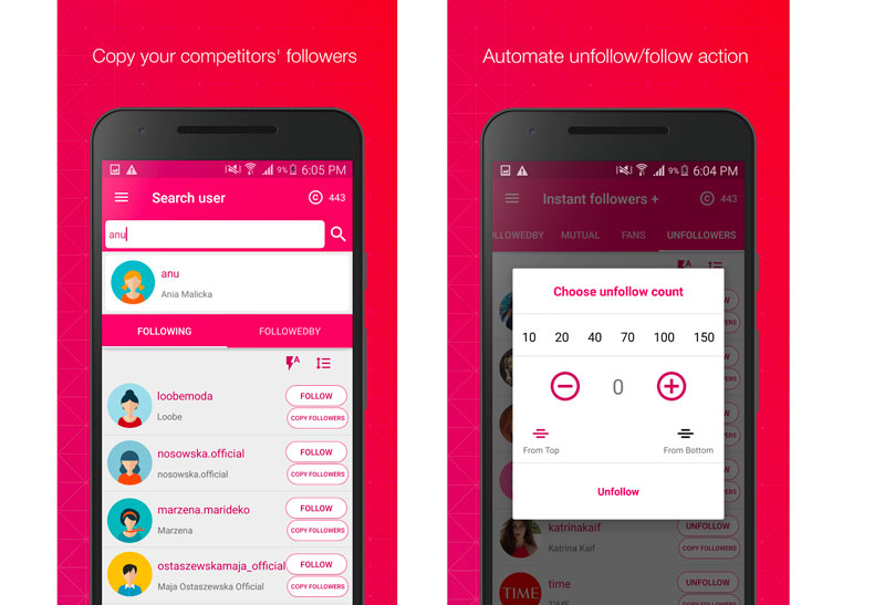 follower assistant plus android app per aumentare follower su instagram