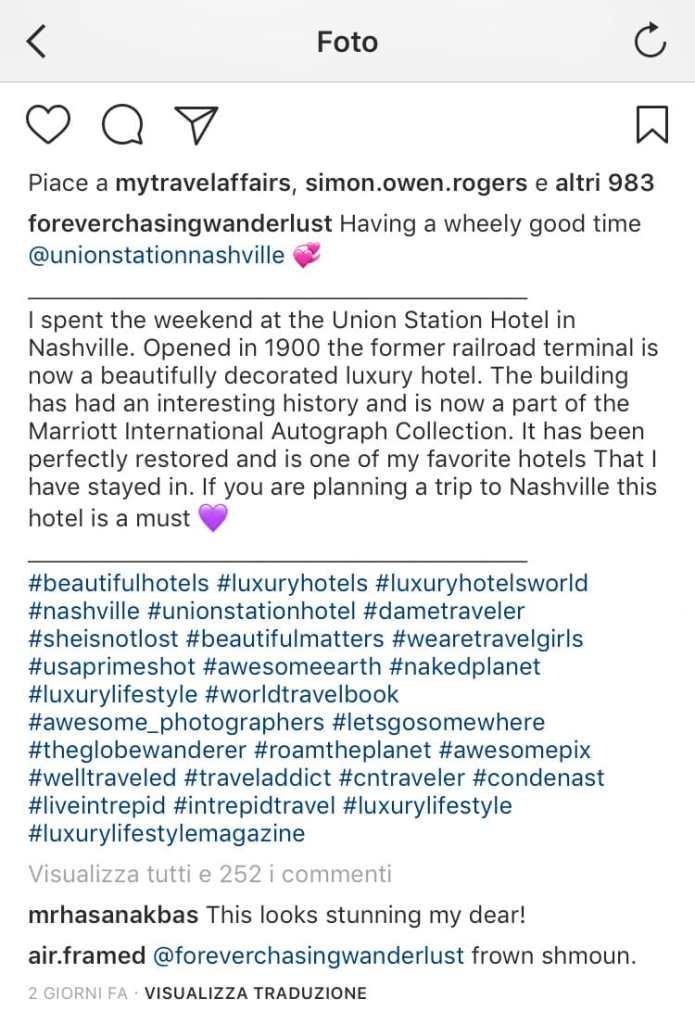 hashtag profilo instagram di successo