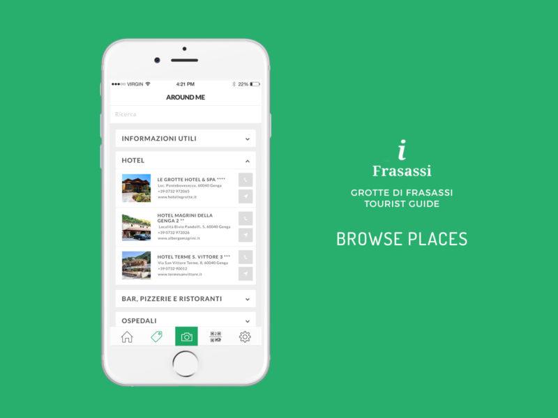 Sviluppo App Parco Grotte di Frasassi