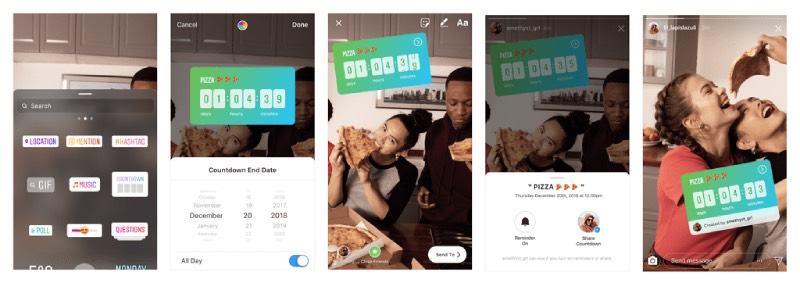 instagram stories sticker conto alla rovescia