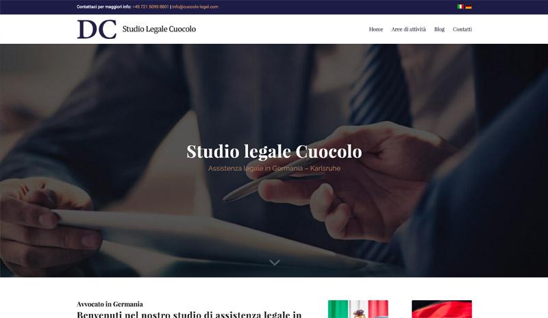 realizzazione sito web studio legale cuocolo