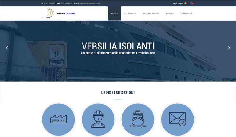 realizzazione sito web cantiere navale versilia isolanti