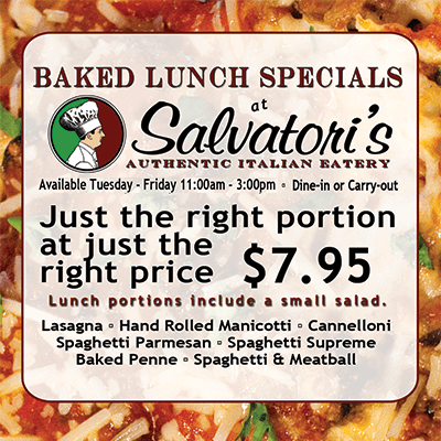 Lunch Specials advertisement