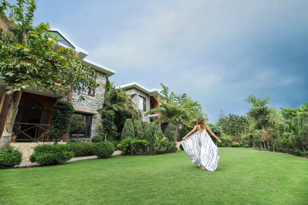 Exterior View Of Cottages Connected With Garden At The Narayana Palace - Best Resort In Rishikesh