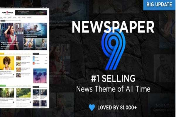 Free Newspaper 9 Blogger Template Download