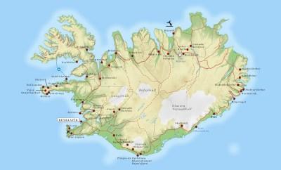 Islândia Mapa Turístico