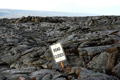 La lava engullió literalmente la carretera. Chain of Craters Road, Hawai'i Volcanoes National Park. Big Island