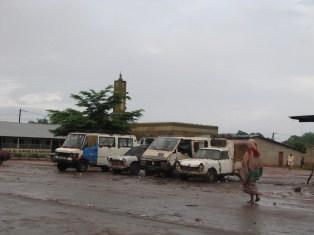 Gare routière de Bignona au petit matin