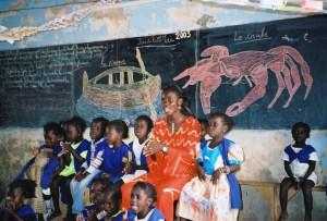 Jardin d'enfants de Djilor (Sénégal), mai 2003