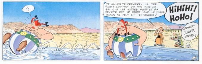 Obélix et la mer Morte