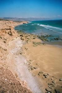 La côte marocaine vers Agadir