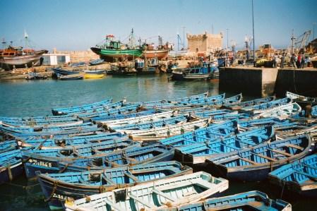 Barques dans le port d'Essaouira