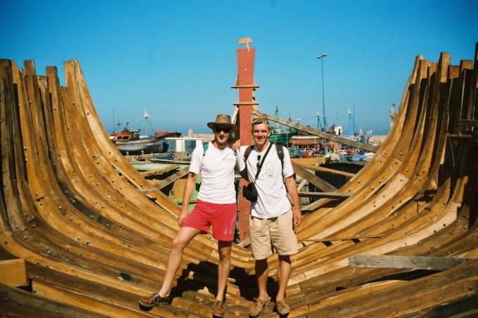 Visite du chantier naval d'Essaouira