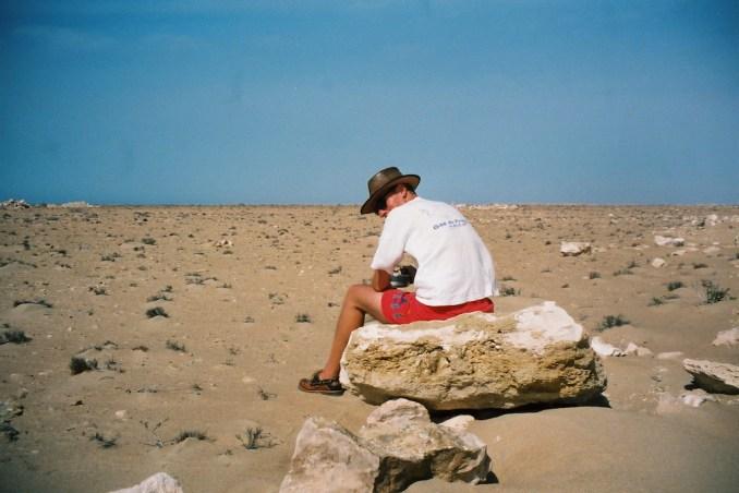 Philou dans le désert marocain
