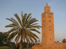 Le minaret de la Koutoubia au coucher de soleil