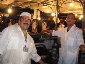 Place Jemaa-el-Fna, côté cuisines