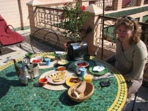 Petit déjeuner au Riad Zouina