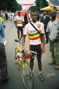 Un coureur sénégalais