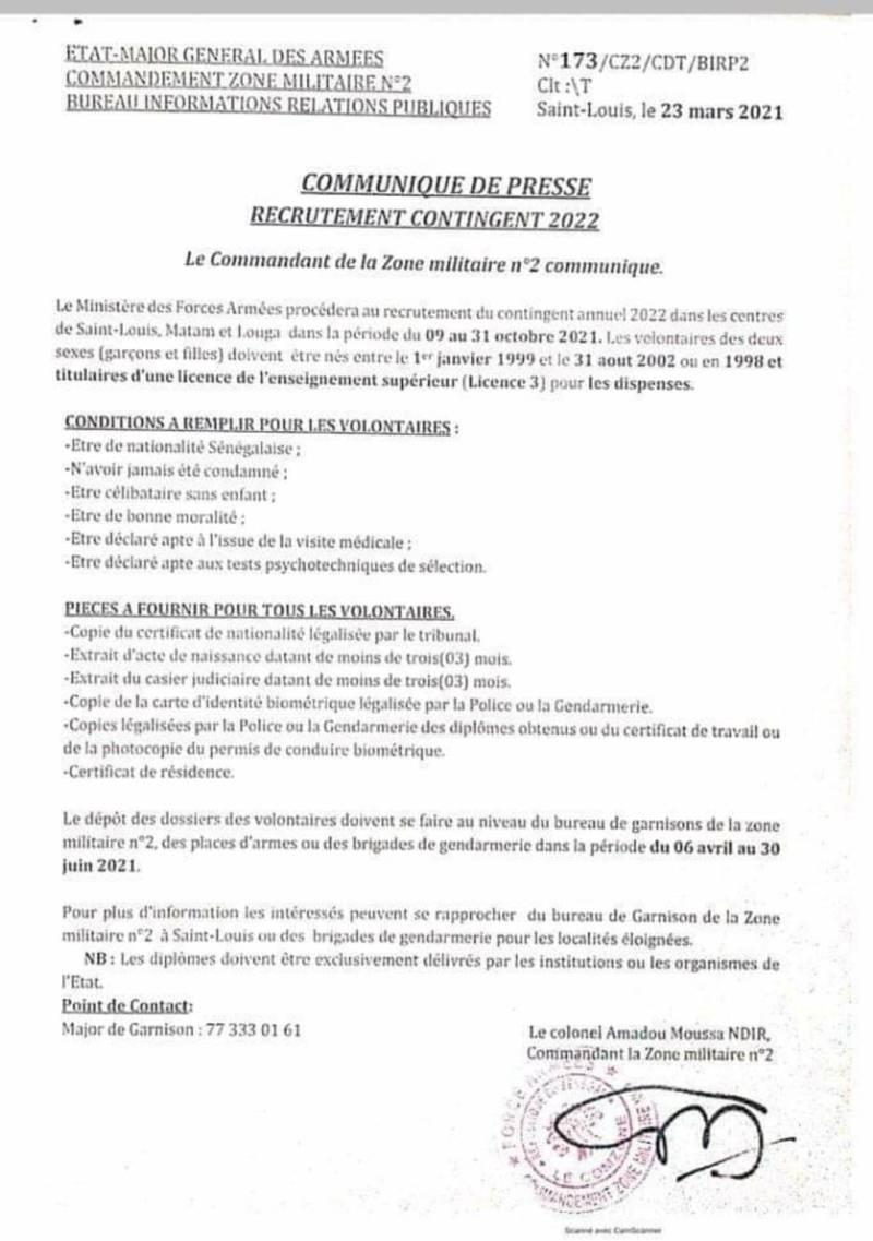 Calendrier Bourses Aux Armes 2022 Armée : Recrutement du contingent 2022   Documents à fournir et