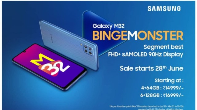 Samsung Galaxy M32 Price in india with specs