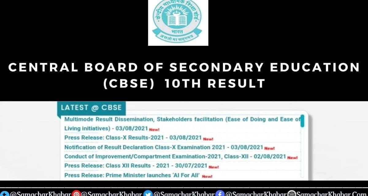 CBSE 10th Class Result 2021 live on cbseresults.nic.in [Direct link]