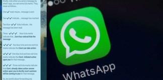 WhatsApp fake message three tick