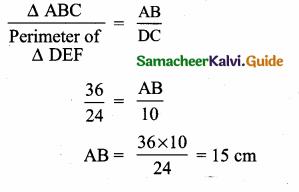 Samacheer Kalvi 10th Maths Guide Chapter 4 Geometry Additional Questions 17