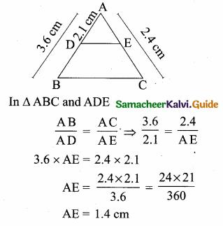 Samacheer Kalvi 10th Maths Guide Chapter 4 Geometry Ex 4.5 6