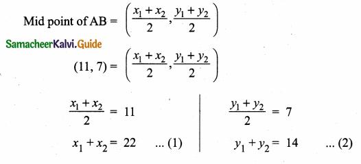 Samacheer Kalvi 10th Maths Guide Chapter 5 Coordinate Geometry Ex 5.1 21