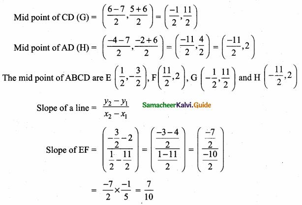 Samacheer Kalvi 10th Maths Guide Chapter 5 Coordinate Geometry Ex 5.2 14