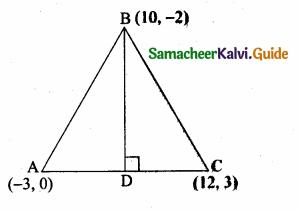 Samacheer Kalvi 10th Maths Guide Chapter 5 Coordinate Geometry Ex 5.4 3