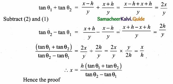 Samacheer Kalvi 10th Maths Guide Chapter 6 Trigonometry Ex 6.4 4