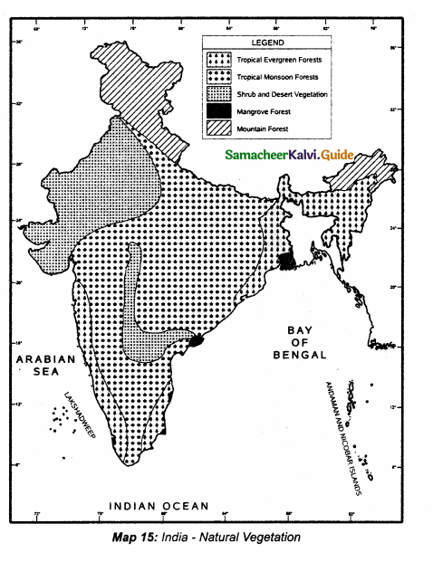 Samacheer Kalvi 10th Social Science Guide Geography Chapter 2 Climate and Natural Vegetation of India 5