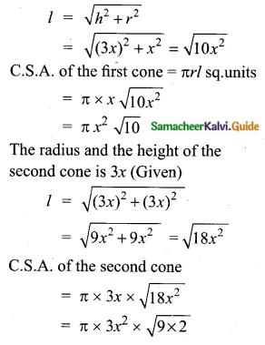 Samacheer Kalvi 10th Maths Guide Chapter 7 Mensuration Ex 7.1 Q7