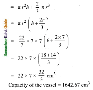 Samacheer Kalvi 10th Maths Guide Chapter 7 Mensuration Ex 7.3 Q1.1