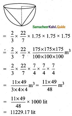 Samacheer Kalvi 10th Maths Guide Chapter 7 Mensuration Unit Exercise 7 Q2