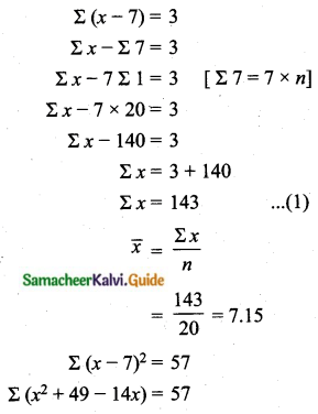 Samacheer Kalvi 10th Maths Guide Chapter 8 Statistics and Probability Additional Questions LAQ 7