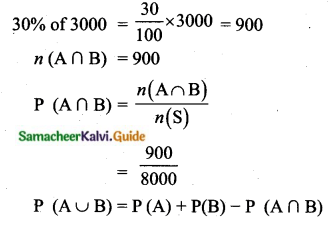 Samacheer Kalvi 10th Maths Guide Chapter 8 Statistics and Probability Ex 8.4 Q11
