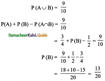 Samacheer Kalvi 10th Maths Guide Chapter 8 Statistics and Probability Unit Exercise 8 Q11.1