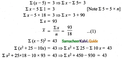 Samacheer Kalvi 10th Maths Guide Chapter 8 Statistics and Probability Unit Exercise 8 Q5