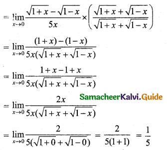 Samacheer Kalvi 11th Business Maths Guide Chapter 5 Differential Calculus Ex 5.2 Q1.4