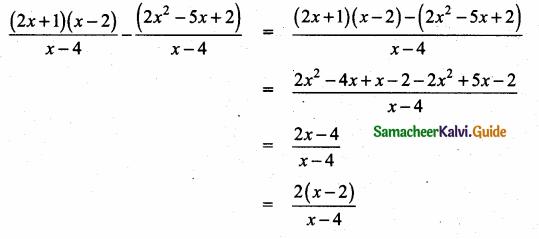 Samacheer Kalvi 10th Maths Guide Chapter 3 Algebra Ex 3.6 2