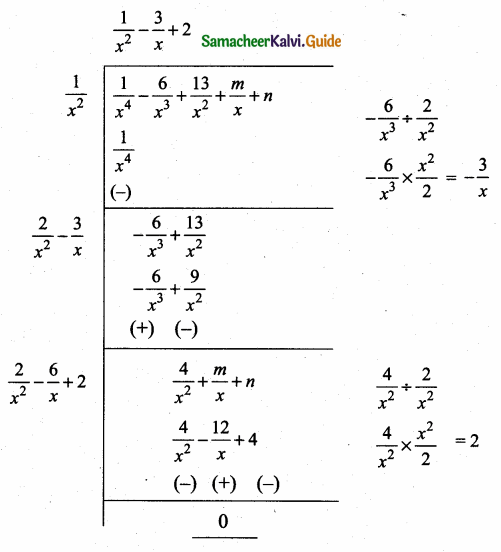 Samacheer Kalvi 10th Maths Guide Chapter 3 Algebra Ex 3.8 13