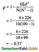 Samacheer Kalvi 11th Business Maths Guide Chapter 9 Correlation and Regression Analysis Ex 9.1 Q10.2