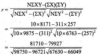 Samacheer Kalvi 11th Business Maths Guide Chapter 9 Correlation and Regression Analysis Ex 9.1 Q3.2
