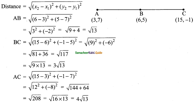 Samacheer Kalvi 9th Maths Guide Chapter 5 Coordinate Geometry Additional Questions 4