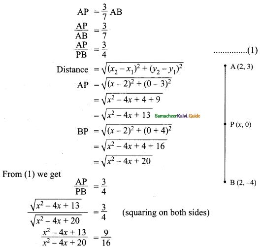 Samacheer Kalvi 9th Maths Guide Chapter 5 Coordinate Geometry Ex 5.2 17